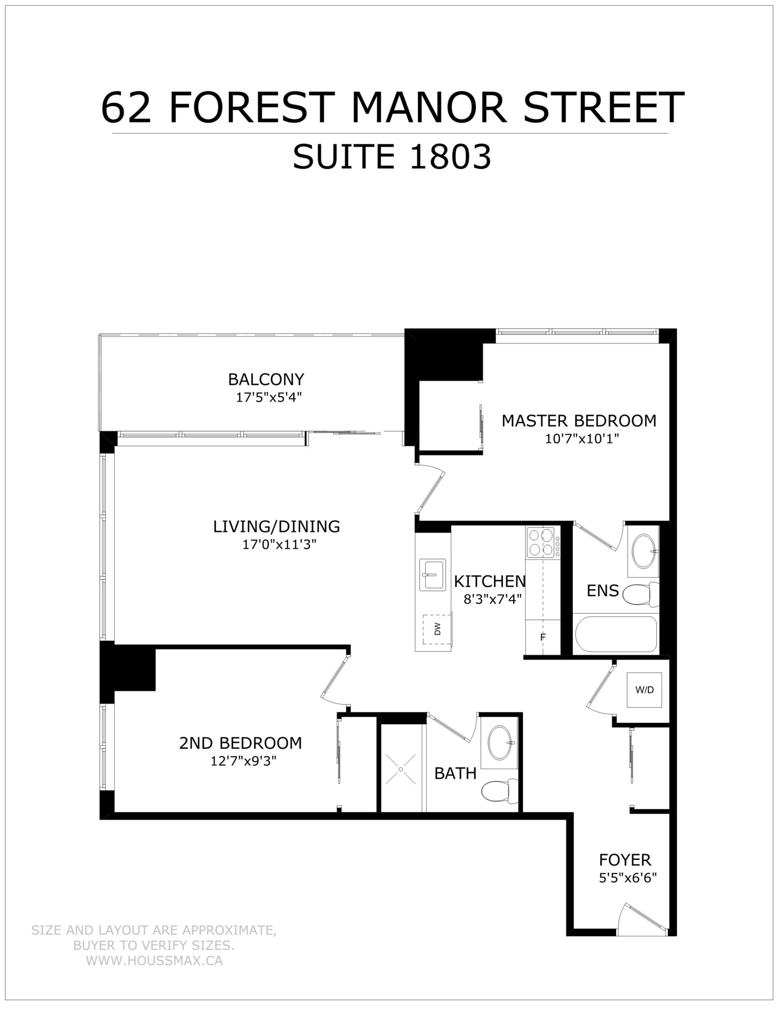 Floor Plans for 62 Forest Manor Rd Unit 1803, Toronto.