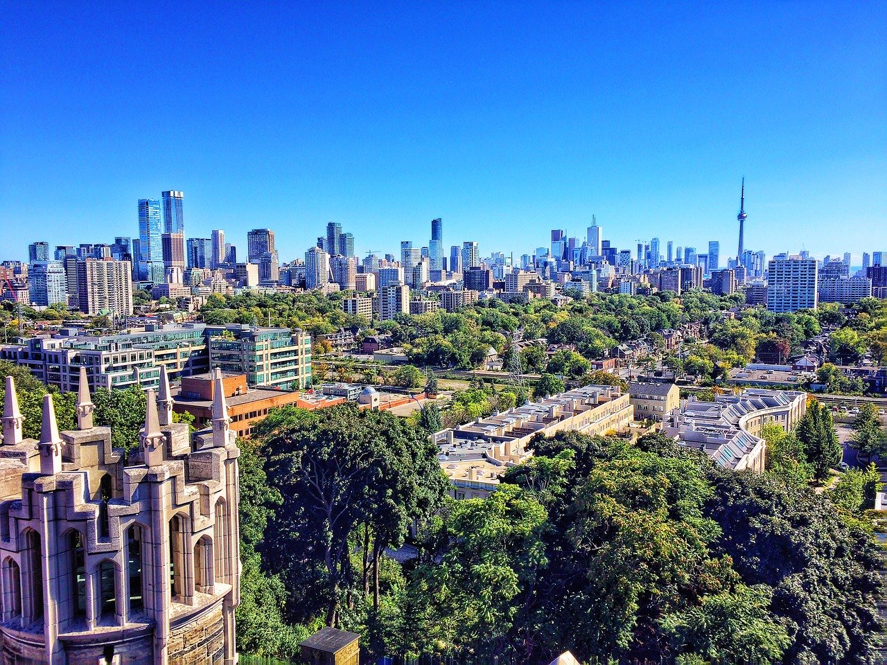 Afternoon view of Toronto skyline from 12A Cecil.
