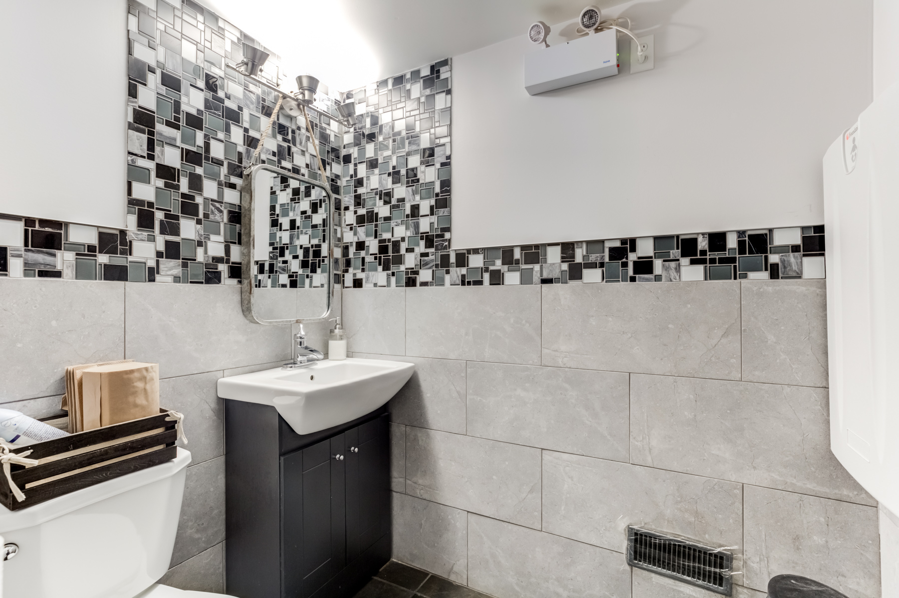 Newly renovated bathroom at 463 Danforth Ave.